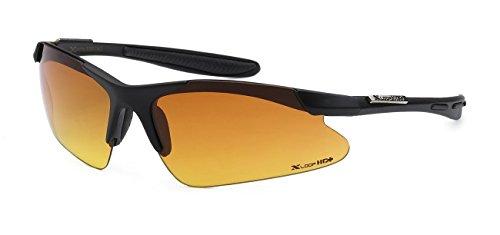Xloop HD Polycarbonate Men Women Half Frame Outdoor Sport Eyewear Sunglasses, Black - Polish Sunglasses