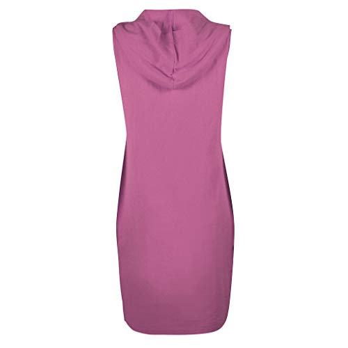 Zaidern Women Dress Sexy Women's Casual Sleeveless Solid Color V Neck Hooded Dress Beach Summer Dresses Purple by Zaidern_Dresses (Image #3)