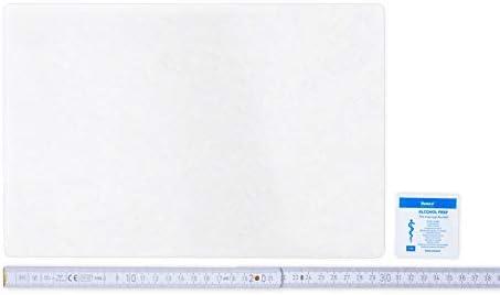 Flickly Anhänger Planen Reparatur Pflaster | in vielen Farben erhältlich | 30cm x 20cm | SELBSTKLEBEND (Transparent)