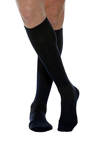 Maxar Comfort/Diabetic Cotton/Silver Socks, Black, Large