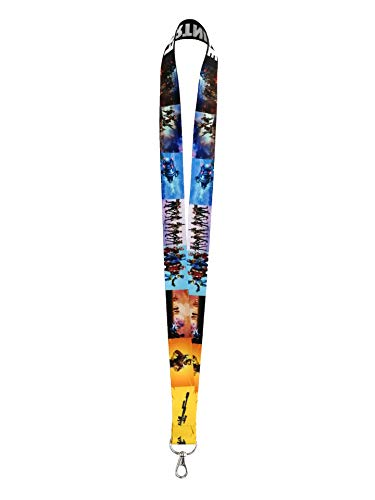 (Youth Boys Lanyard Keychain For Battle Royale Video Game Gift ID Holder GEZI)