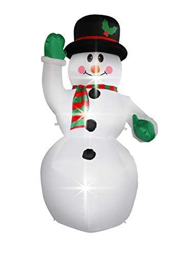 7 Ft Inflatable Christmas Snowman Decorations for Indoors Outdoors Home Yard Lawn Garden Decor ()