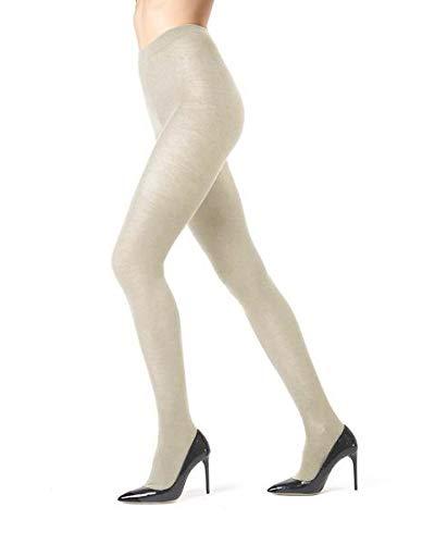 Cashmere Control Top Pantyhose - Memoi Cashmere Blend Sweater Tights   Women's Hosiery - Pantyhose Oatmeal ML 504 Small/Medium