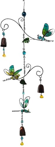 Continental Art Center CAC10231D Dragonflies Wind Chime