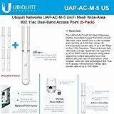 Ubiquiti UAP-AC-M-5 UniFi Mesh Wide-Area 802.11ac Dual-Band Access Point (5-Pack)