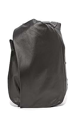 Cote & Ciel Men's Isar Coated Canvas Medium Backpack, Black, One Size