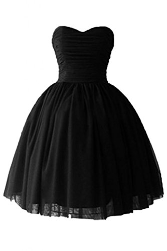 Victoria Dress In Black - Victoria Dress Ball Gown Sweetheart Cocktail Dresses Satin Homecoming Dresses-2-Black
