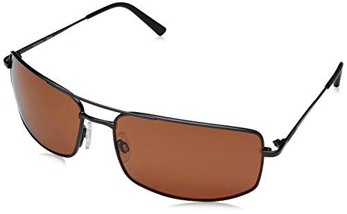 (Serengeti 8307 Treviso Sunglass, Shiny Dark Gunmetal Frame, Polarized Drivers Lens)