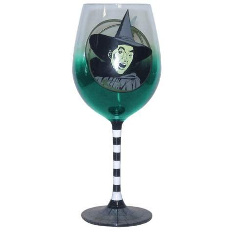 Wizard of Oz Wicked Witch 15-oz Wine Glass with Striped Stem
