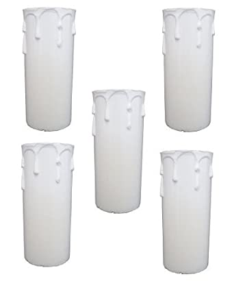 5 x plastic candle drip 80mm cover for chandelier sp211pp amazon 5 x plastic candle drip 80mm cover for chandelier sp211pp mozeypictures Images