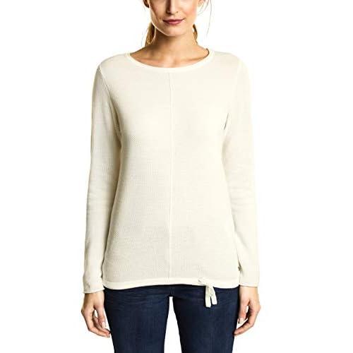Cecil Damen Pullover Weiß Pure Off White 10125 L97OE2rZ