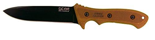 SCAR Blades Strike Fighter Knife, Powdercoat Gray/Brown/Black by SCAR BLADES