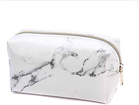 LJYNB - Estuche para lápices con diseño de mármol, Gran Capacidad, Piel sintética, Bolsa para cosméticos, Material Escolar y de Oficina (Color Blanco), Caja de papelería, Blanco: Amazon.es: Hogar