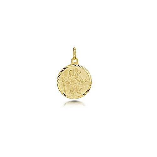 Medalla de Protecci/ón para Mujer y Hombre Amberta Colgante con San Crist/óbal en Plata de Ley 925 Modelos Varios Medall/ón para Viajeros