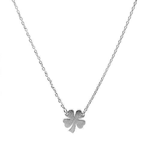 Spinningdaisy Handcrafted Brushed Clover Necklace