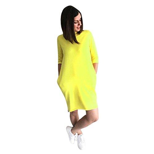 Women Solid Sundress Half Sleeve Dress,TIFENNY Mom&Me Slim Splice Dress Family Clothes (M, Mom Size) by TIFENNY