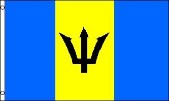 3x5 Feet Barbados Flag - Printed Polyester