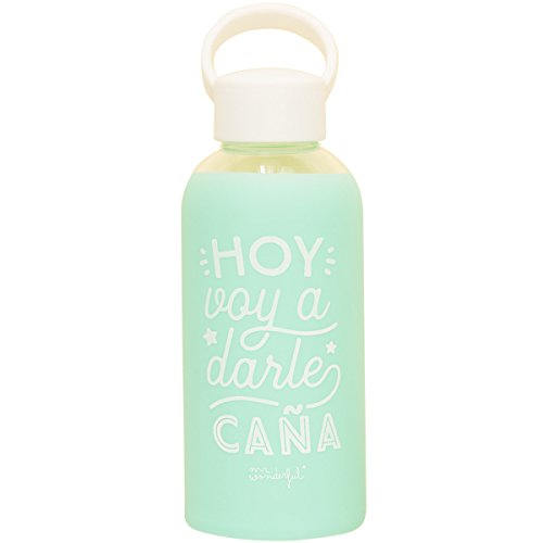 Mr Wonderful Woa08624Es Botella De Cristal Para Que El Ritmo No Pare, Multicolor, 19 8X6 4X6