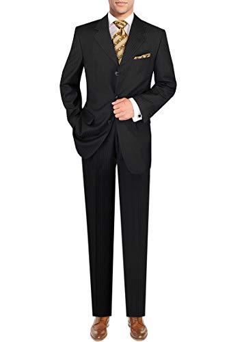 - DTI GV Executive Men's Italian Suit Wool 3 Button Stripe 2 Piece Jacket Pants (42 Short US / 52S EU/W 36
