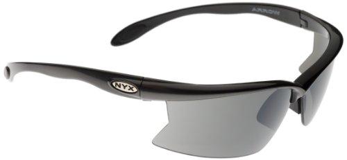 NYX Arrow Standard Style Amber 3-Lens Set Sunglasses (Amber Lens/Black Gloss - Rose Amber Sunglasses