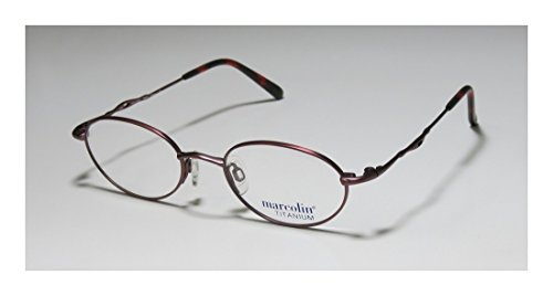 22634843f8d Marcolin 2030 Mens Womens Optical Light Weight Designer Full-rim Titanium  Flexible Hinges Eyeglasses Eyewear (46-18-130