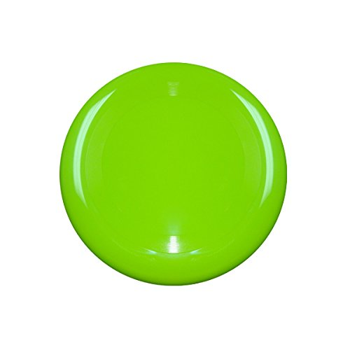 10'' Flying Frisbee Style Hard Plastic Disc - Lime Green - Promotional Product - Your Logo Imprinted (Case Pack of 100) by RKM