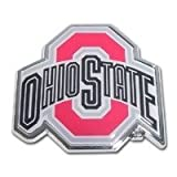 Ohio State Buckeyes Metal Auto Emblem with Colored Team Logo