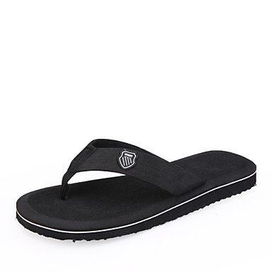 Sandalias de verano zapatos de hombre exterior / Casual Flip-Flops algodón negro / marrón / gris Brown