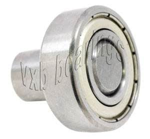 1 1//8 Inch Flanged Ball Bearing with 1//2 Diameter Integrated 1 Long Axle VXB Brand