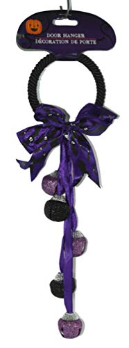(Dazzling Deals Purple and Black Halloween Door Knob Bell Hanging)
