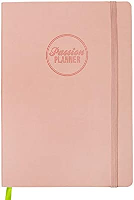 Passion Planner Large Dated Jan-Dec 2020 - Goal Oriented Weekly Agenda, Reflection Journal (A4-8.3 x 11.7 in) Sunday Start (Brilliant Blush)