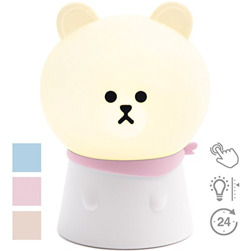 Night Light for Kids / Portable USB Rechargeable Baby Nursery Lamp / Soft Unbreakable Silicone Cute LED Night Light for kids with Adjustable Brightness / Childrens NIght Light Great Gift