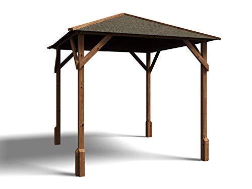 Dunster House Wooden Garden Gazebo Pressure Treated Shelter - Utopia 200 W2m x D2m
