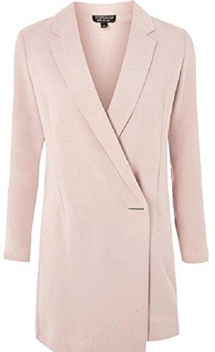Anastasia - Chaqueta resorte de las señoras de línea larga chaqueta de vestir Rosa