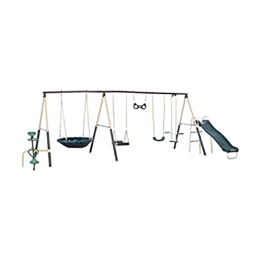 XDP Recreation Deerfield 10 Child Capacity Swing Set Playground