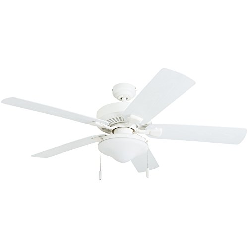 White Outdoor Fan With Light