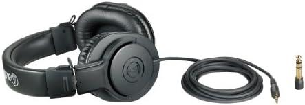 Audio-Technica ATH-M20x Professional Studio Monitor Headphones, Black 314zEVwkreL