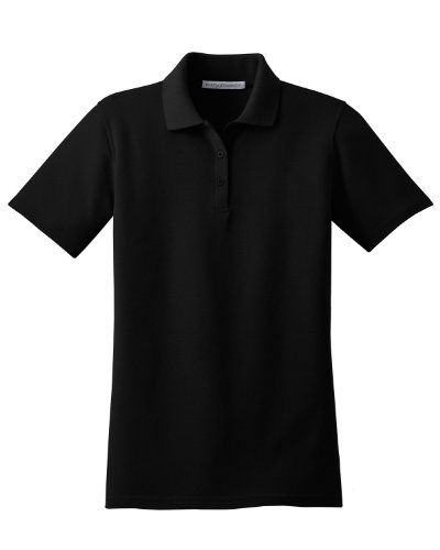 Port Authority Ladies Stain-Resistant Sport Shirt - Black L510 4XL