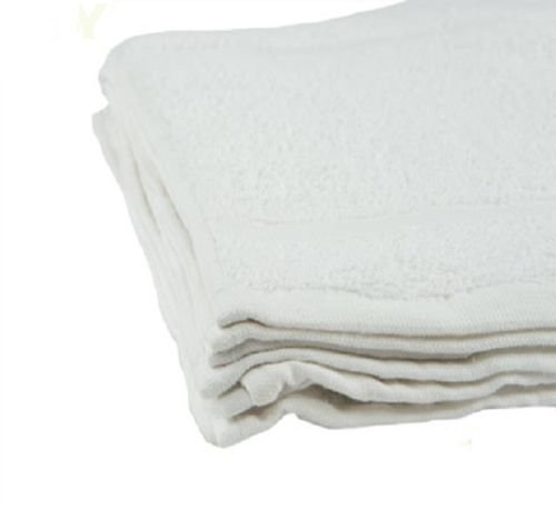 Globe House Products GHP 300-Pcs White 12''x12'' Cotton Terry Cloth Absorbent Kitchen Restaurant Bar Towels