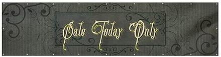 Victorian Frame Heavy-Duty Outdoor Vinyl Banner Sale Today Only 12x3 CGSignLab