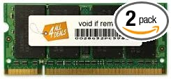 4GBx2 Upgrade for a Dell XPS M1330 System 4AllDeals 8GB Kit DDR2 PC2-5300, Non-ECC,
