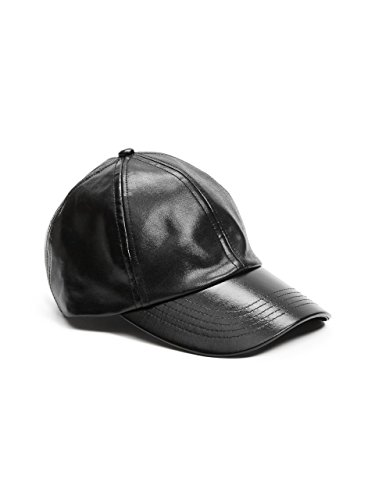 GUESS Faux Leather Baseball Cap