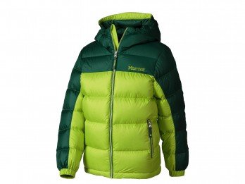 Marmot Guides Down Hooded Jacket - Boys' Vermouth/Deep Forest, S by Marmot