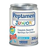 Nestle Peptamen Junior - Unflavored Complete Peptide Based Elemental Nutrition, 250 Milliliter -- 24 per case.