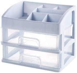 XWYSSH主催 引き出しスタイルデスクトップストレージラック多層プラスチックのスキンケア化粧品ラックに収納ボックス化粧品収納ボックス XWYSSH (色 : グレー)
