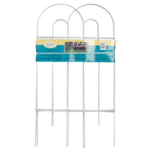 Panacea 89300 Arch Folding Border Fence, White
