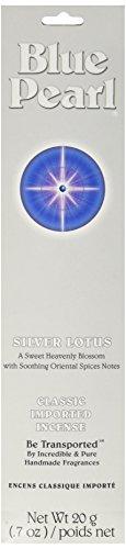 Blue Incense - Blue Pearl Classic Fragrance Incense, Prem Silver Lotus, 20 Gram