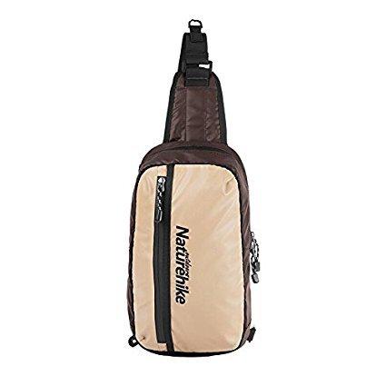 NatureHike Unisex Shoulder Bag Outdoor Sport Bag Cycling Bosom Bag Waterproof Messenger Bag (Coffee) by Naturehike