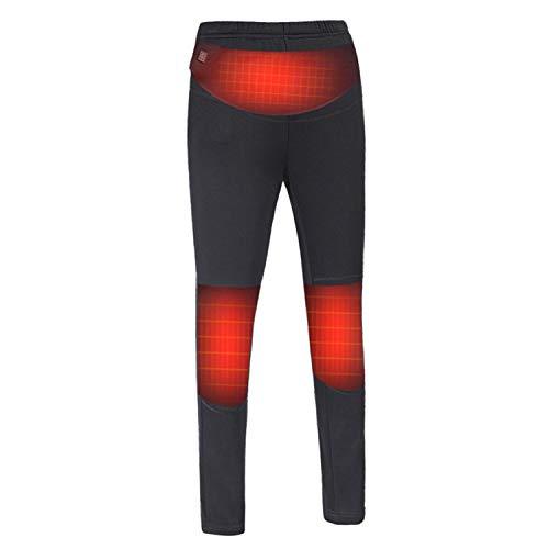 KINGWOLFOX Electric Heated Warm Pants Women USB Heating Base Layer Elastic Trousers