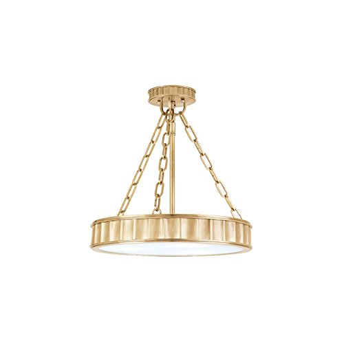Hudson Valley 901-AGB, Middlebury Drum Pendant, 3 Light, 180 Total Watts, Brass (Pendant Lighting Middlebury)